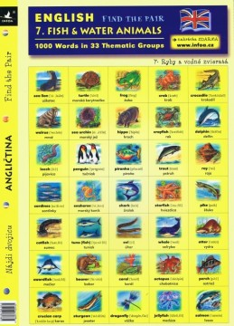 English - Find the Pair 07. (Fish & Water Animals)