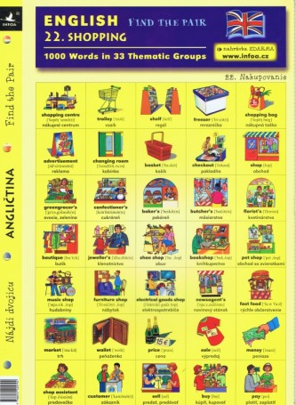 English - Find the Pair 22. (Shopping)